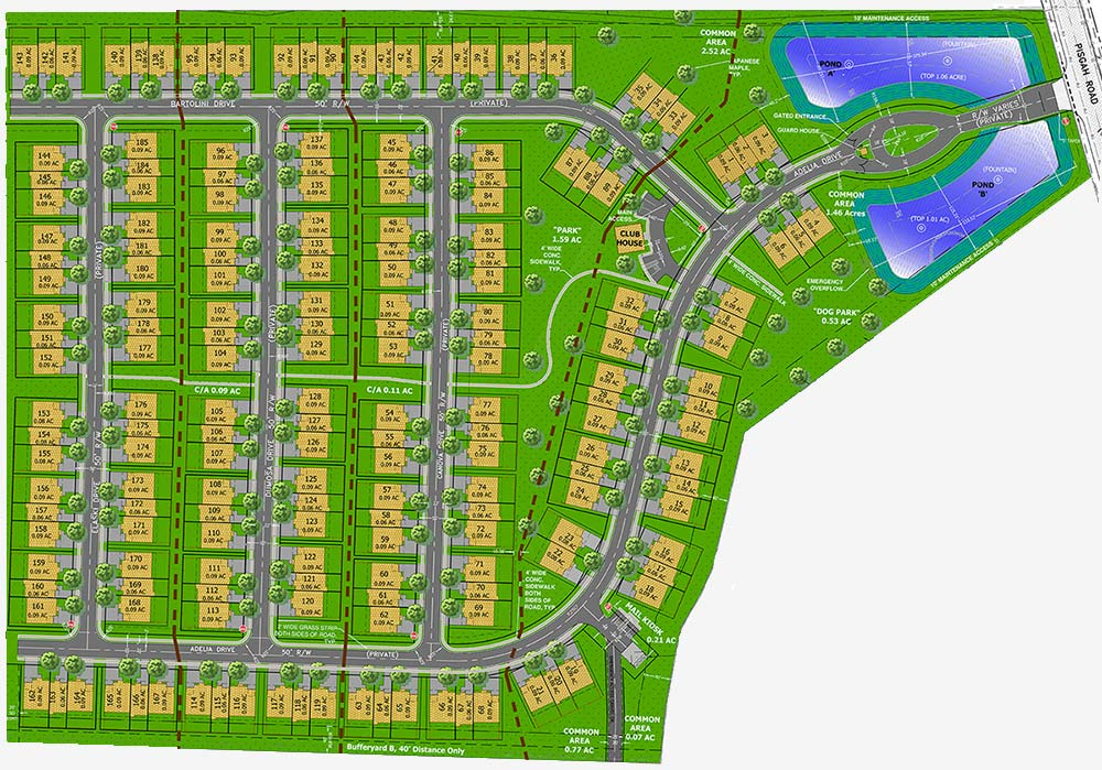 Development Plan for the Chandler Reserve Gated Community